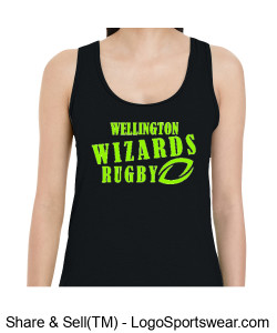 Ladies Black Racerback Tank Design Zoom
