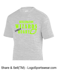 Men's Gray Performance tshirt- Girls Rugby Design Zoom