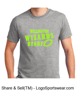 Men's Gray Cotton Tshirt Design Zoom