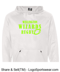 Adult Performance White Hoodie Design Zoom