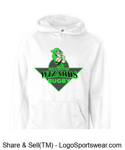 Youth White Hoodie with Crest Design Zoom