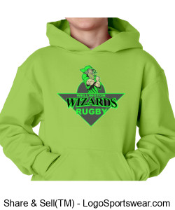 Youth Green Hoodie With Crest Design Zoom