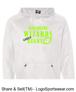 Adult Performance White Hoodie- Girls Rugby Design Zoom