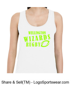 Ladies White Cotton Racerback Tank Design Zoom