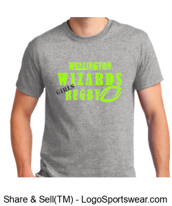 Men's Gray Tshirt- Girls Rugby Design Zoom