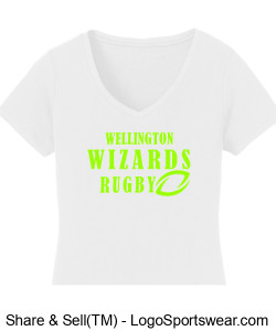 Ladies White Cotton T-Shirt- Girls Rugby Design Zoom